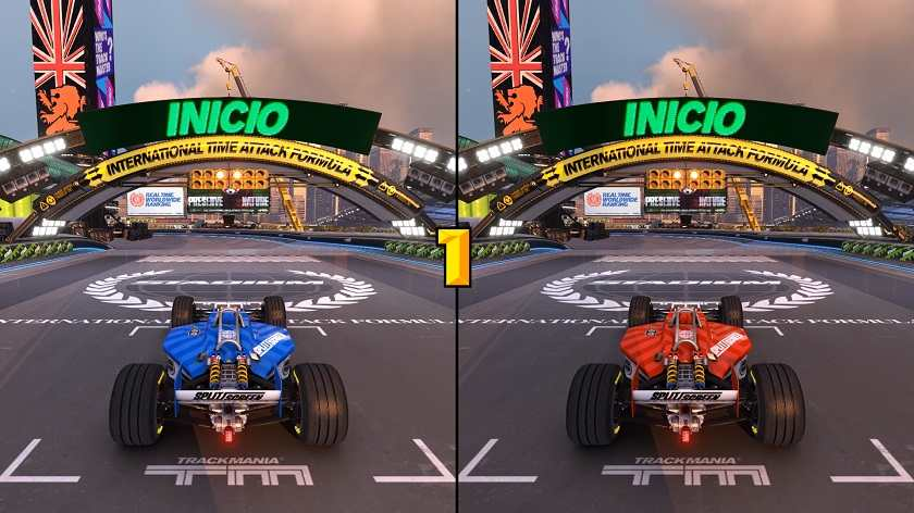 trackmania turbo split screen
