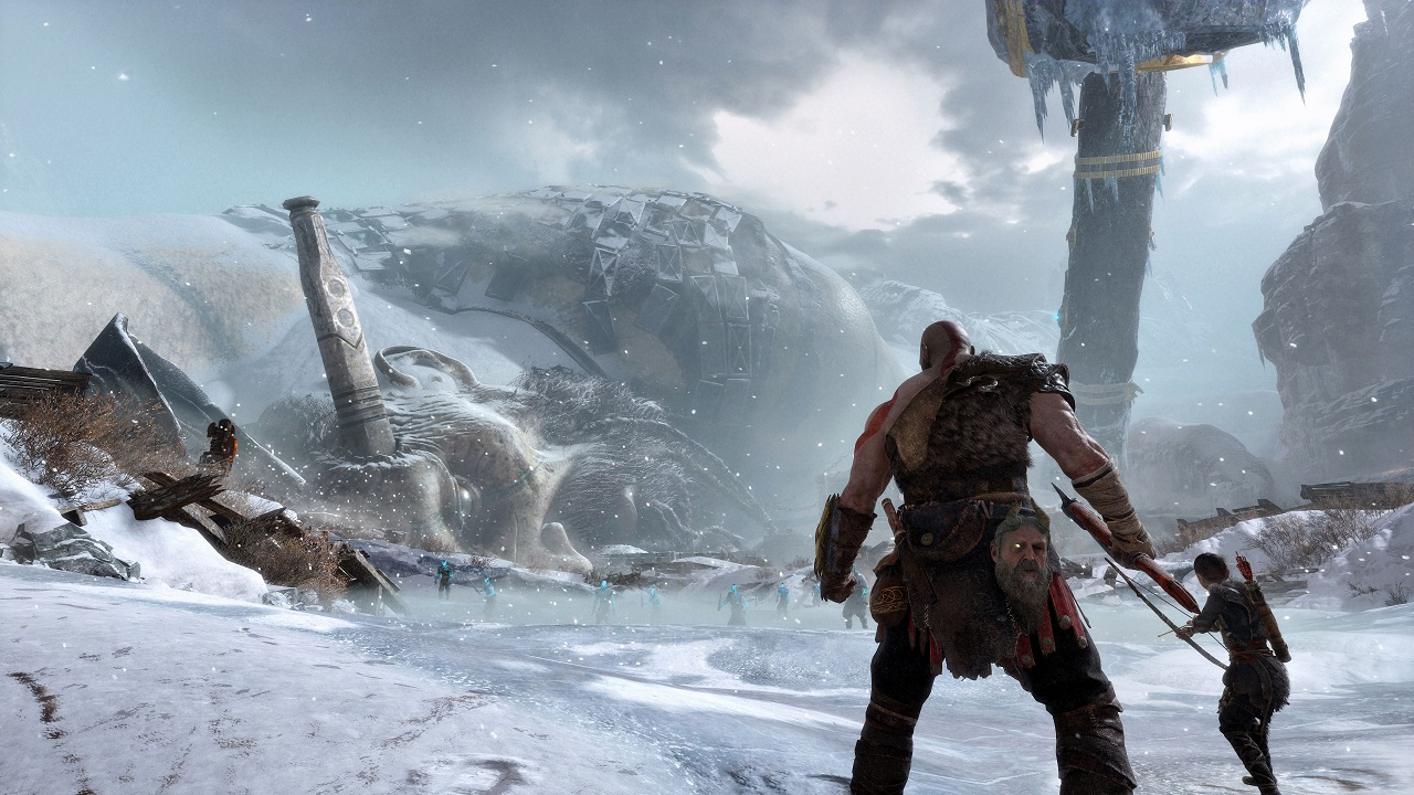 God Of War: svelato nuovo artwork raffigurante le rovine di Midgard