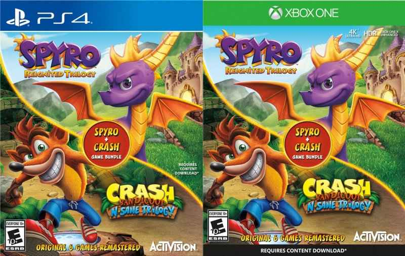 Crash Bandicoot N. Sane Trilogy e Spyro Reignited Trilogy