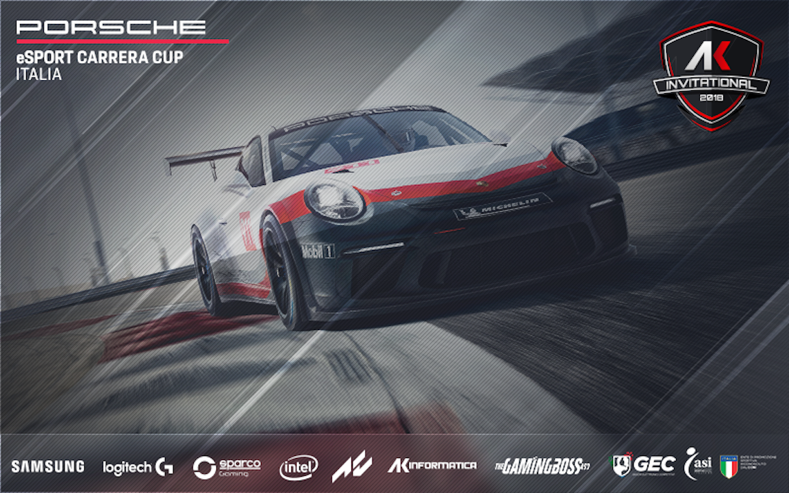 Ak Invitational: al via la sim-racing della Porsche eSport Carrera Cup Italia